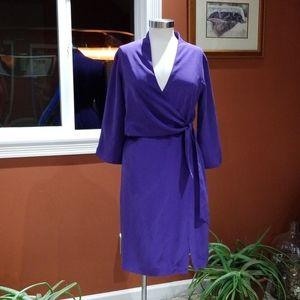 Coldwater Creek purple silk dress